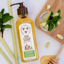 Load image into Gallery viewer, Lemongrass Spearmint Honey Hand Soap