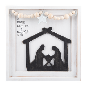 Oh Come Let Us Adore Him Nativity Frame