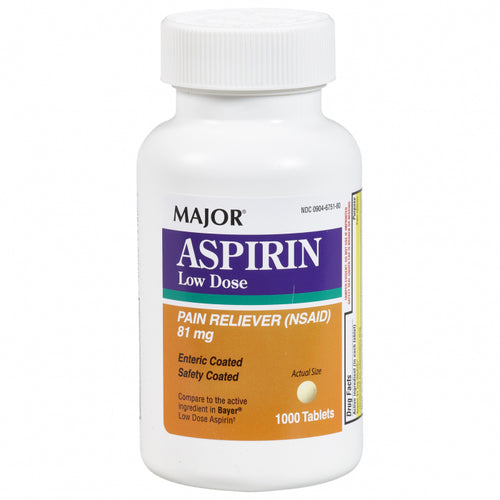 Aspirin 81mg 1000ct
