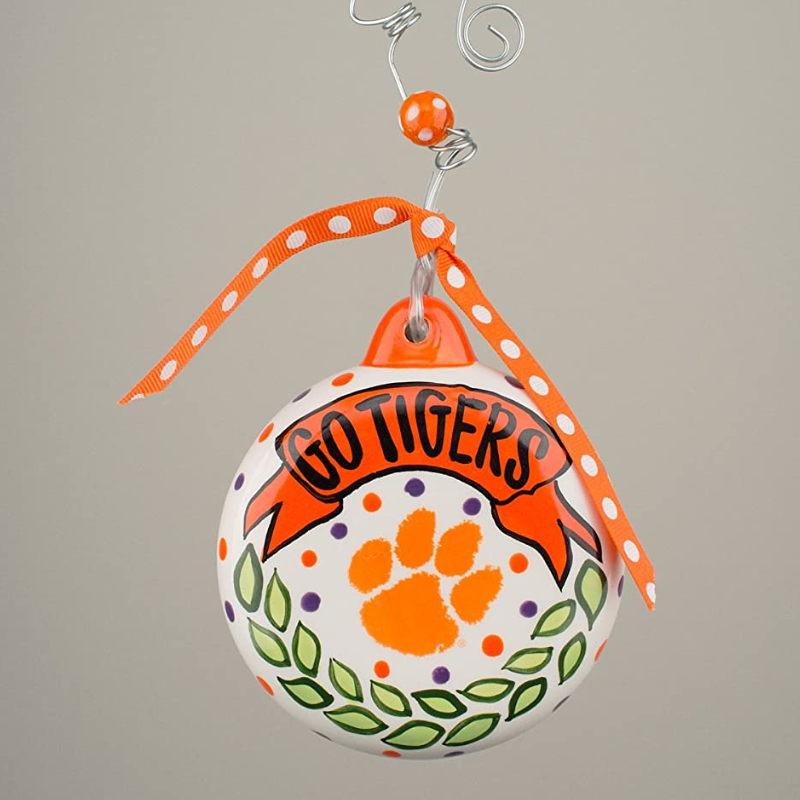 Clemson Puff Ornament