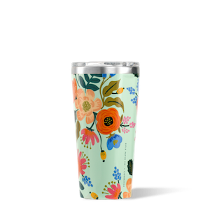 Corkcicle Mint Lively Floral 16oz Tumbler