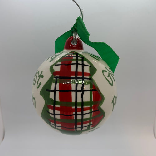 Joy to the World Christmas Tree Ball Ornament