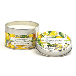 """Lemon Basil"" Travel Candle"