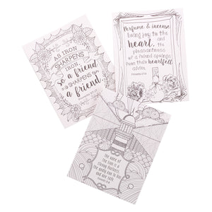 Coloring Cards - Proverbs in Color
