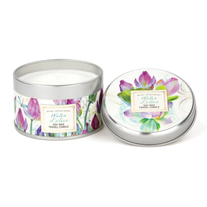 """Water Lilies"" Travel Candle"