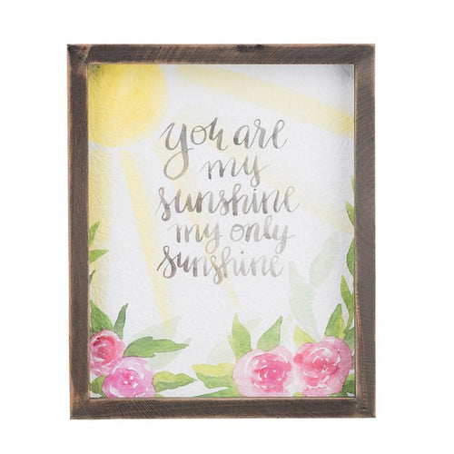 You Are My Sunshine Framed Watercolor
