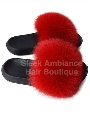 Faux Fur Slides