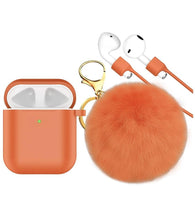 Load image into Gallery viewer, AirPod Pom Lipgloss Keychain