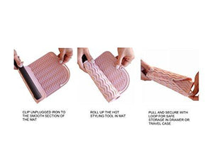 Silicone Heat Resistant Styling Station Mat for All Hot Irons
