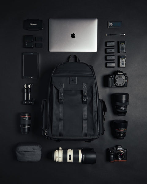 Packing a camera bag for travel and flights