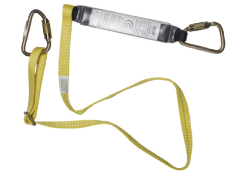 MSA 2Mtr Single Leg Lanyard with Triple Action Karabiner