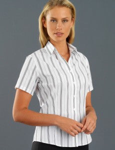 John Kevin Short Sleeve Striped Shirt