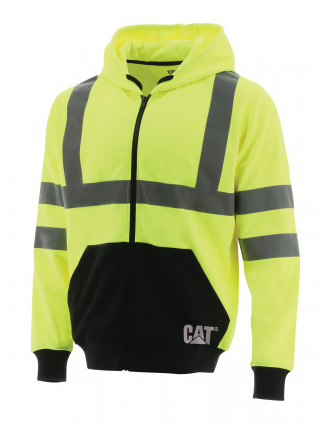 CAT Hi Vis Full Zip Sweatshirt