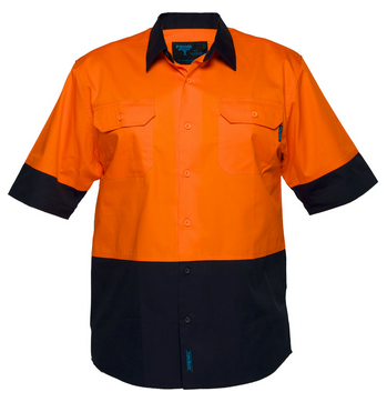 Primemover Hi Vis Light Weight Open Front Short Sleeve Shirt