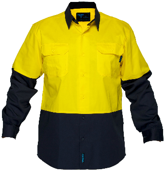Primemover Hi Vis Light Weight Open Front Long Sleeve Shirt