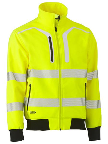 Bisley Taped Hi Vis Softshell Bomber Jacket
