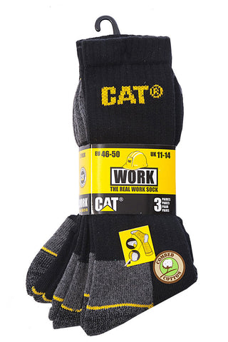 CAT 3 Pack Workwear Crew Sock
