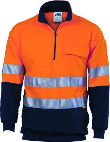 DNC Cotton Fleecy  HiVis Windcheater with Tape