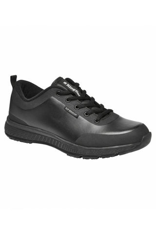 King Gee Women's Superlites Black Leather Shoe