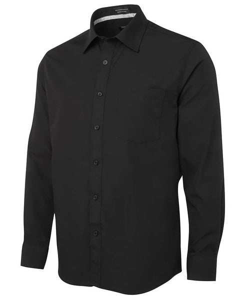 JB's Mens Contrast Placket Long Sleeve Shirt