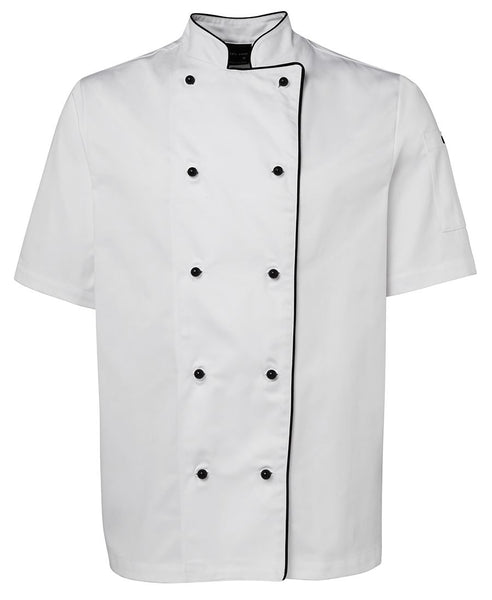 CLEARANCE - JB's Short Sleeve Chef Jacket with Piping