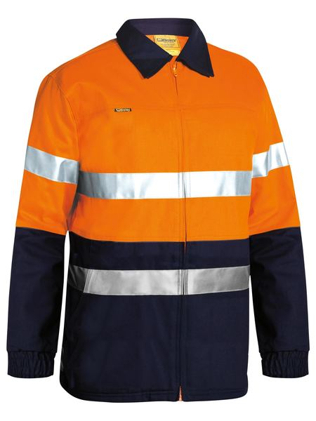 Bisley 3M Taped HiVis Cotton Drill Jacket