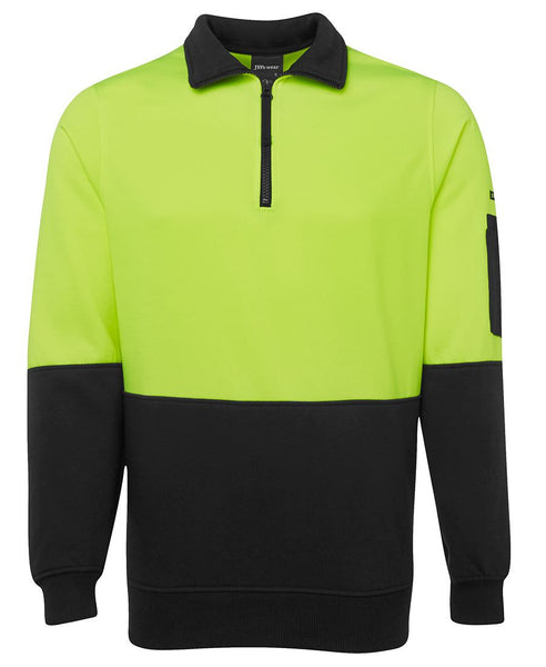 JB's HiVis Half Zip Fleecy Jumper