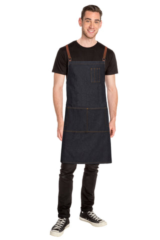 Chef Works Memphis Denim Bib Apron