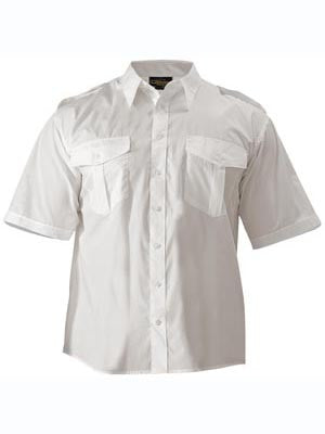 Bisley Mens Epaulette Short Sleeve Shirt
