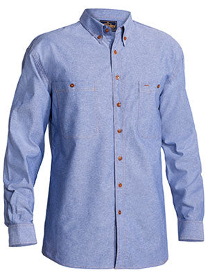 Bisley Mens Chambray Long Sleeve Shirt