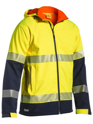 Bisley Taped HiVis Ripstop Softshell Jacket