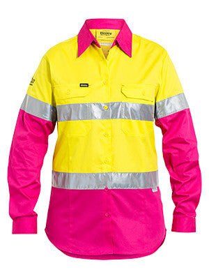 Bisley Ladies 3M Taped Hi Vis Light Weight Shirt