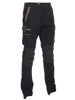 Bisley Flex & Move Stretch Utility Zip Cargo Pant with Codura knee Protection