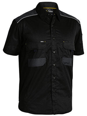 Bisley Mens Flex and Move Mechanical Stretch Short Sleeve Shirt