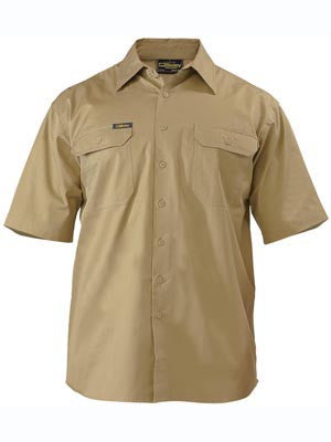 Bisley Mens Lightweight Drill Short Sleeve Shirt