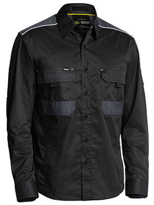 Bisley Mens Flex and Move Mechanical Stretch Long Sleeve Shirt