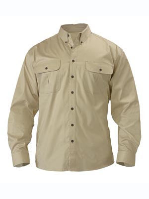 Bisley Mens Mini Twill Long Sleeve Shirt