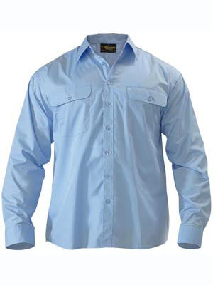 Bisley Mens Permanent Press Long Sleeve Shirt