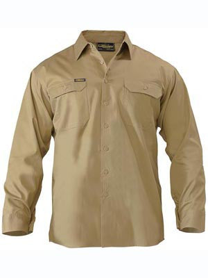 Bisley Mens Lightweight Drill Long Sleeve Shirt