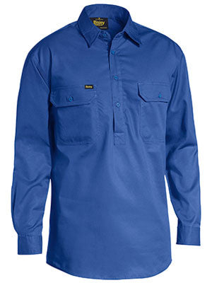 Bisley Mens Closed Front Light Weight L/S Shirt