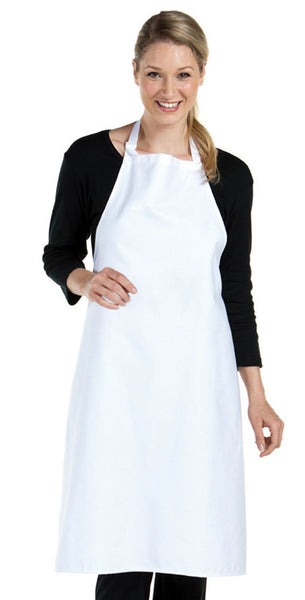 White Bib Apron with NO Pocket
