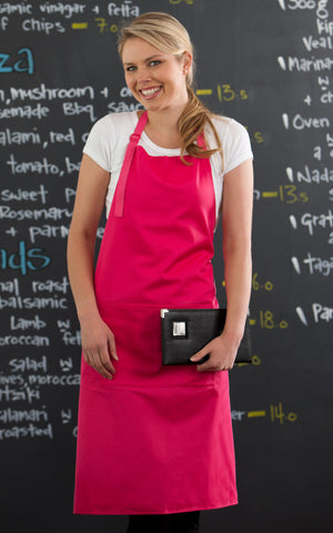 Fuschia Bib Apron with Pocket
