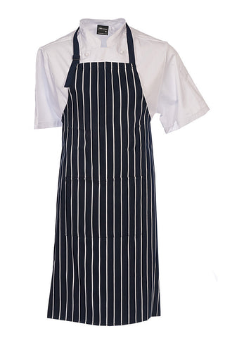 JB's Black Bib Striped Apron with Pocket