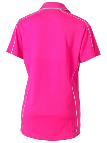 Bisley Ladies Cool Mesh Polo with Reflective Piping