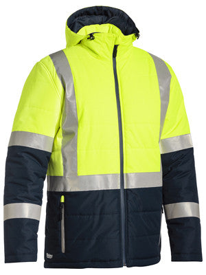Bisley Taped Two Tone HiVis Puffer Jacket