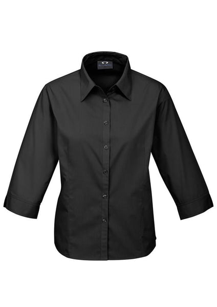 Biz Ladies Base Poplin 3qtr Sleeve Shirt