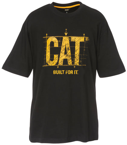 CAT Cotton Tshirt with 'Built for it' Logo