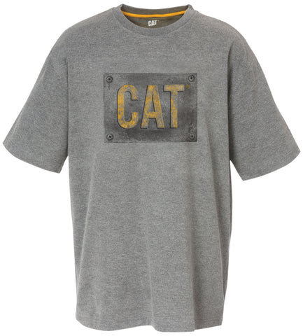 CAT Cotton Tshirt with Printed Logo