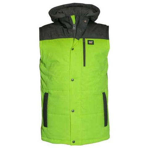 CAT HiVis Hooded Work Vest