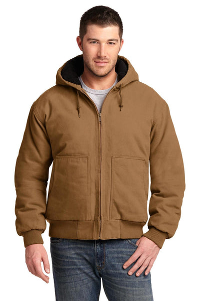 Cornerstone Washed Duck Cloth Insulated Hooded Jacket